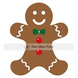 264x264 Gingerbread Man Silhouette Cut File Silhouette