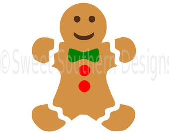 340x270 Gingerbread Man Svg Etsy