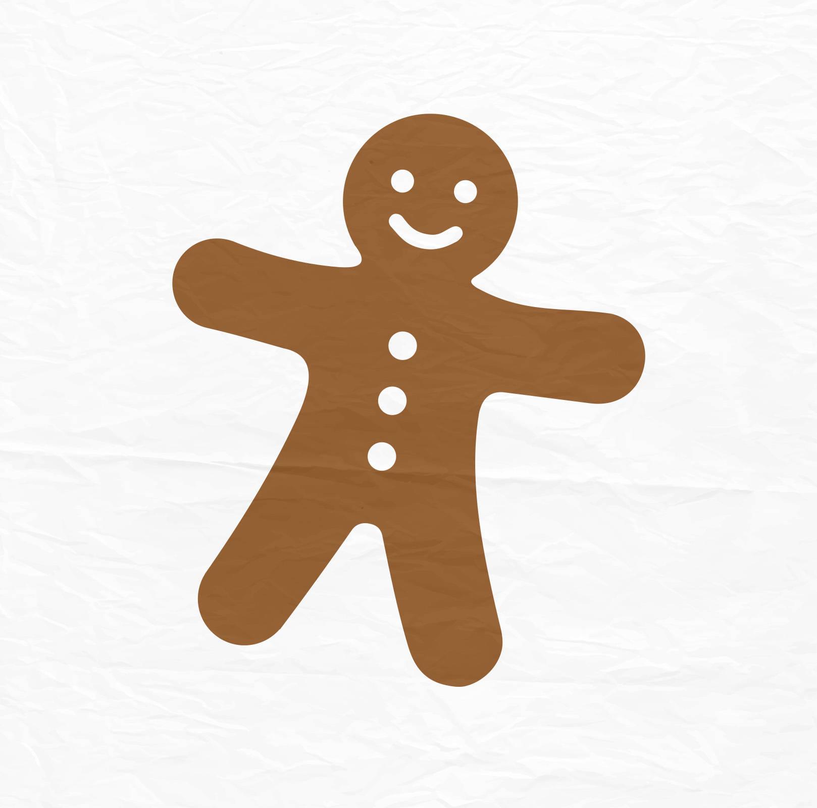 1618x1600 Gingerbread Man Svg Christmas Svg Silhouette Cut Files