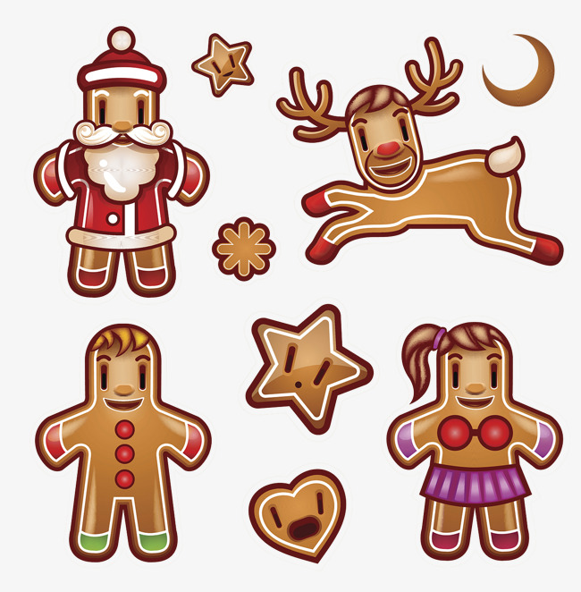 650x662 Gingerbread Man, Reindeer, Baking Png And Psd File For Free Download