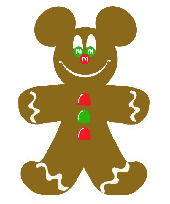 573x689 Gingerbread Man Silhouette Clipart