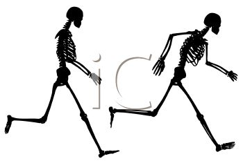 350x233 Royalty Free Clip Art Image Skeleton Running Silhouette