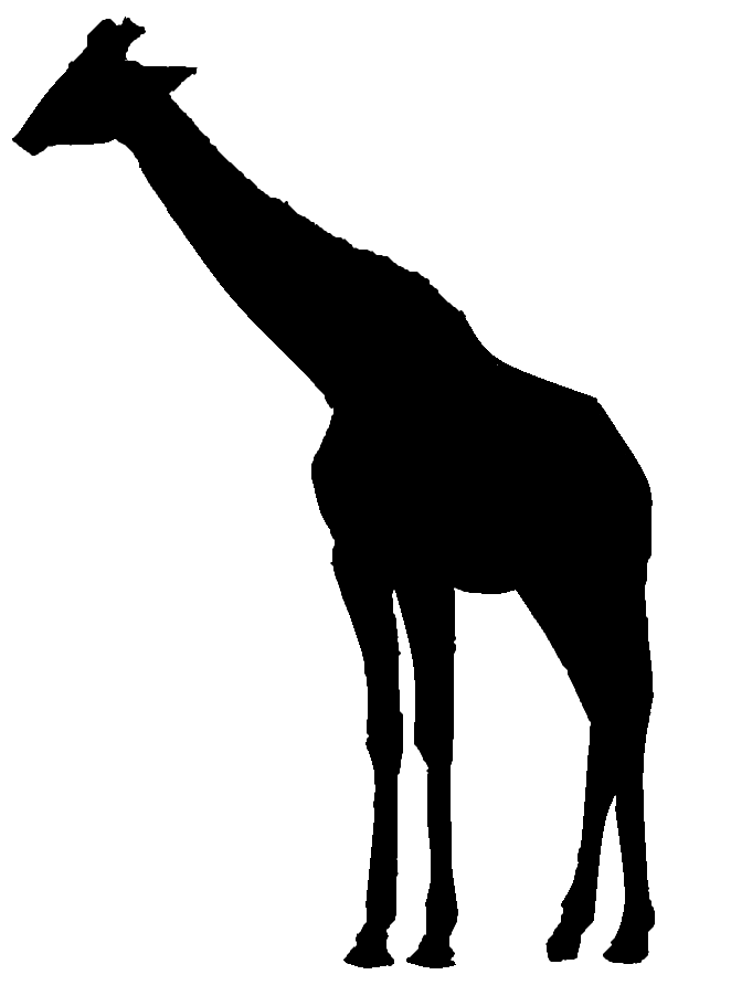 662x902 Giant Giraffe Wall Graphic 5 Foot Tall X 2 Foot Wide
