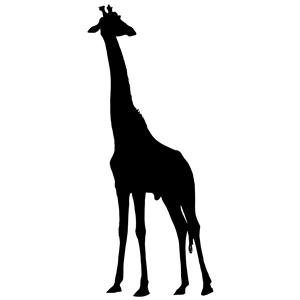 300x300 Giraffe Silhouette Clipart, Cliparts Of Giraffe Silhouette Free