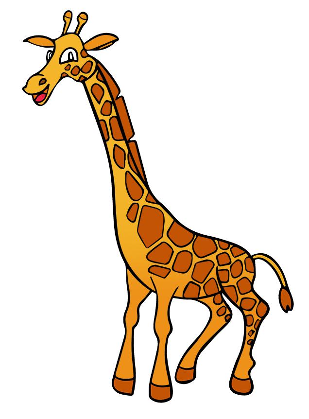 636x862 Giraffe Silhouette