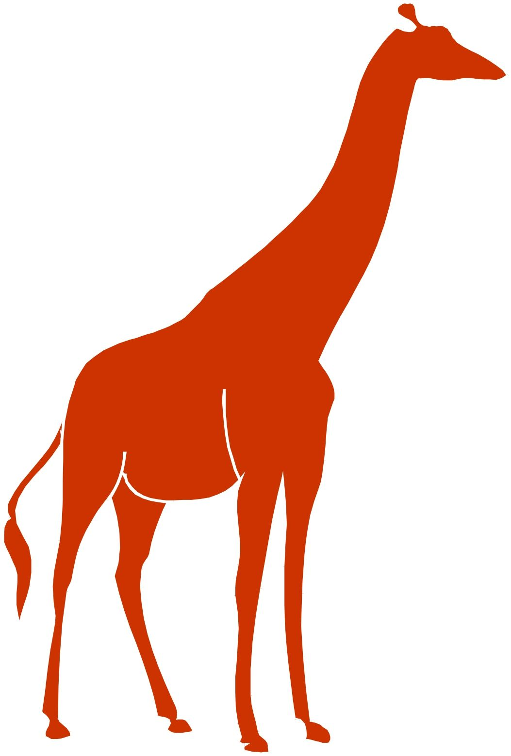 1053x1556 Giraffe Silhouette Clip Art Clipart Panda
