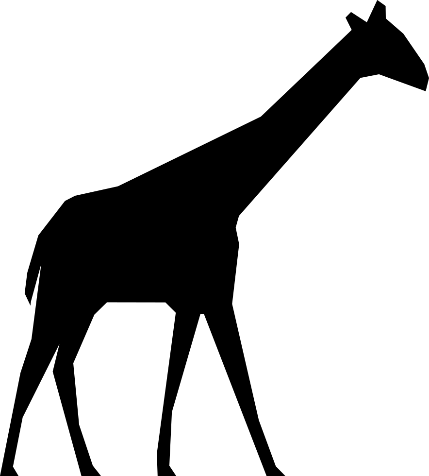 884x980 Giraffe Silhouette Svg Png Icon Free Download ( 74505