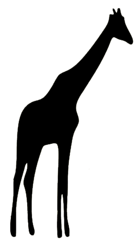267x477 Animal Silhouette Of Giraffe Silhouettes Animal