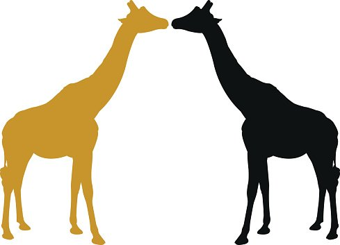 489x353 Giraffe Silhouette Premium Clipart