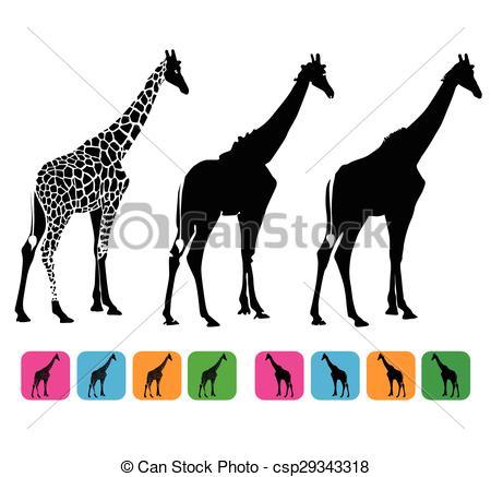 450x437 Giraffe Vector Silhouette Vector Clip Art