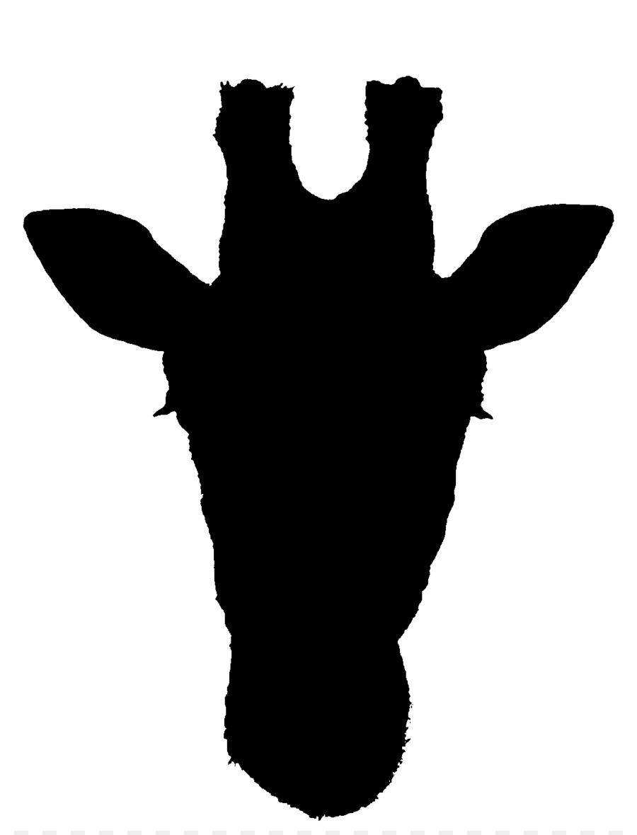 900x1180 Kruger National Park West African Giraffe Silhouette Clip Art