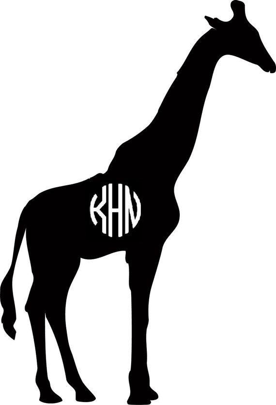 570x837 Giraffe Monogram Vinyl Decal (Many Colors Available) My Etsy