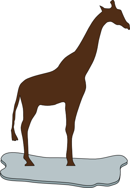 414x598 Brown Giraffe Silhouette On Ice Clip Art