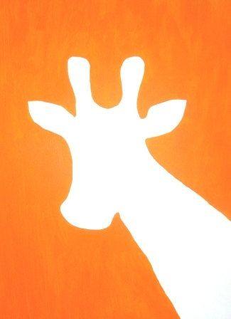 Giraffe Silhouette Painting
