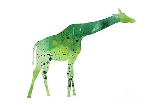 300x213 Abstract Green Giraffe Minimalist Painting Painting By Joanna Szmerdt