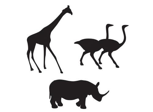 500x366 Giraffe Clipart Outline