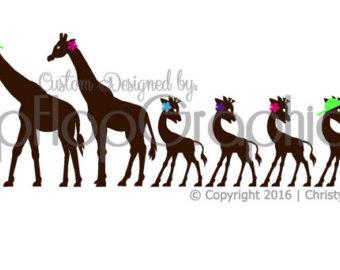 340x270 Giraffe Family Decal Etsy