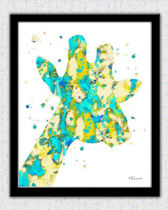 570x713 Giraffe Print Aqua Tan Giraffe Print Giraffe By Fluiddiamondart