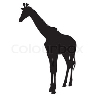 320x320 Giraffe Silhouette Vector Stock Vector Colourbox