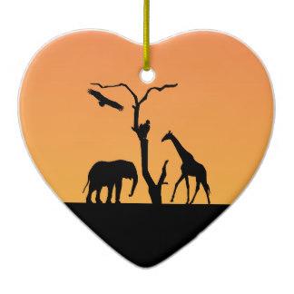 324x324 Elephant Giraffe Silhouette Sunset Gifts On Zazzle