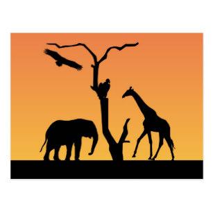 307x307 Giraffe Silhouette Postcards Zazzle