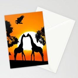 264x264 Giraffe Silhouettes