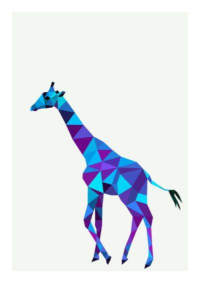 400x565 Geometric Giraffe Squidink Print Geometrical Amp Mandala Design