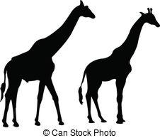 226x194 Giraffe Silhouette Vector Vector Clipart