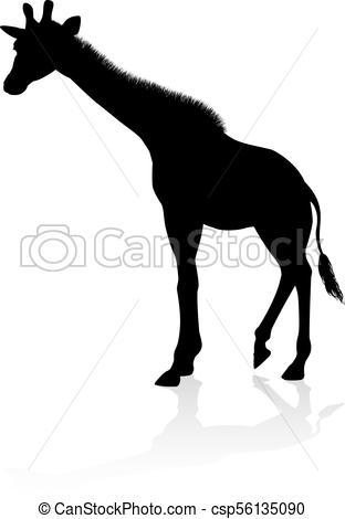 312x470 Giraffe Safari Animal Silhouette. A High Quality Giraffe Eps