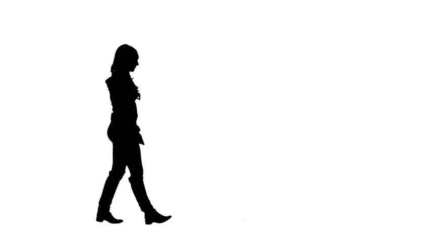 852x480 Christmas Girls Silhouette Walking And Blowing Kiss To Camera