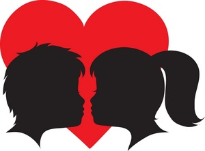 300x221 Heart Kiss Kiss Clipart Image