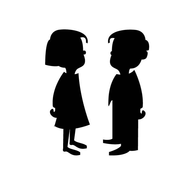 Girl And Boy Silhouette