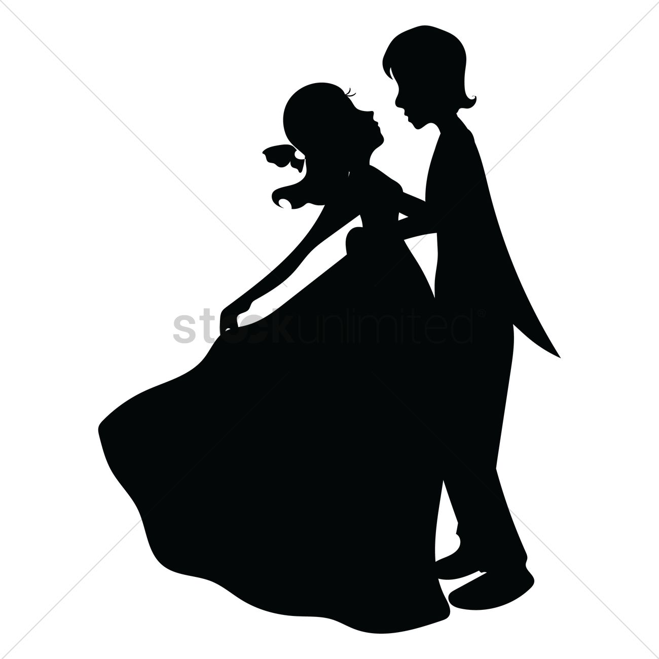 1300x1300 Couple dancing Vector Image