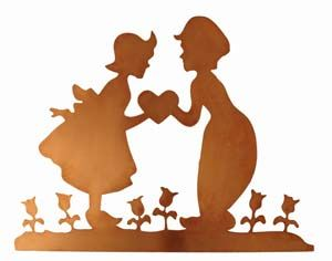 300x236 Dutch Boy And Girl svg Pinterest Silhouettes, Dutch and