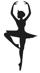 167x300 Ballerina Silhouette Dancer Vinyl Decal Sticker Girl Ballet Choose