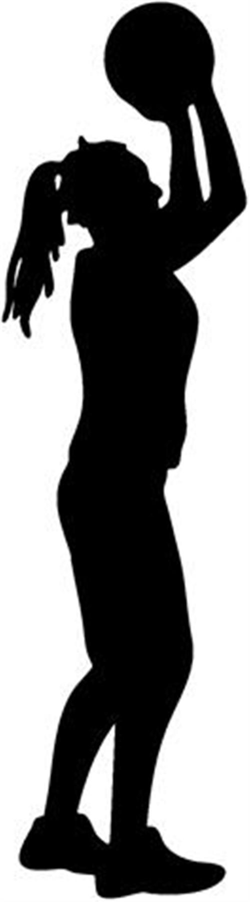 girl basketball player silhouette at getdrawings com free for rh getdrawings com Woman Basketball Player Clip Art Printable Basketball Clip Art
