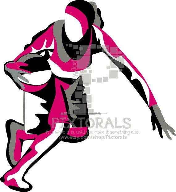 570x619 Girls Basketball Player, Eps, Jpeg, Png, Basketball Vector, Line