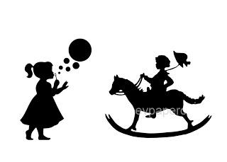 320x229 Little Girl Silhouette Blowing Bubbles