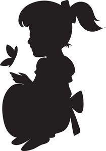 210x300 Little Girl Clipart Shadow