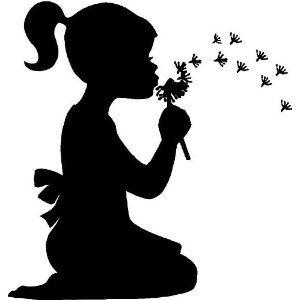 300x300 Little Girl Blowing Dandelions Wall Art Wall Designs Kids