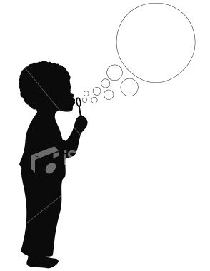294x380 African American Boy Blowing Bubbles Blowing Bubbles, Vector Art