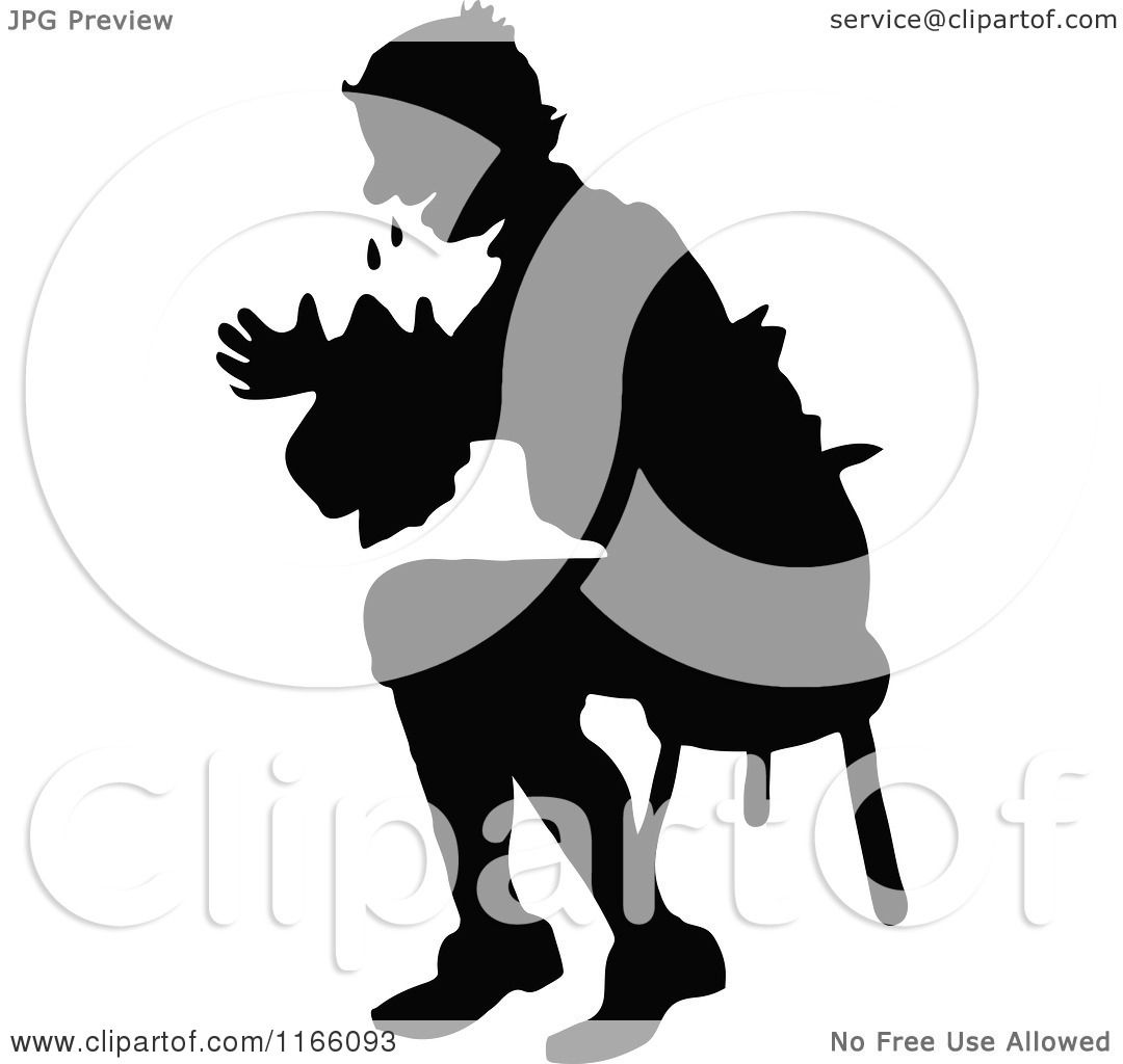 1080x1024 Clipart Of A Silhouetted Man Crying And Sitting In A Chair
