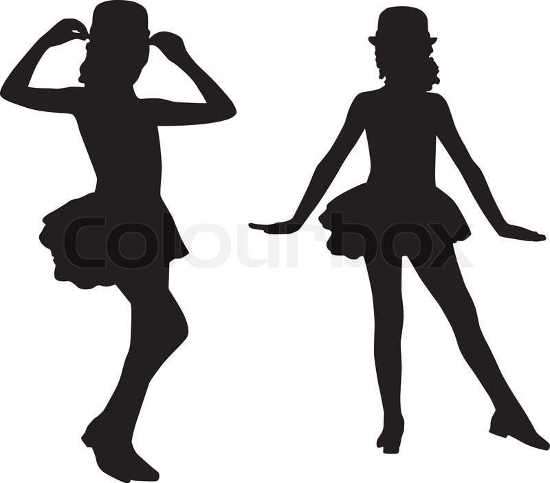 800x703 Nice Tap Dance Silhouette Cartoon Bunny Dancing Silhouettes