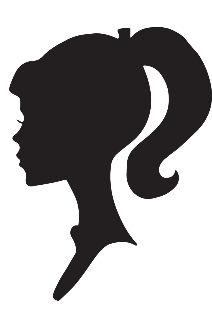 Girl Face Silhouette