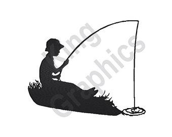 340x270 Fishing Silhouette Etsy