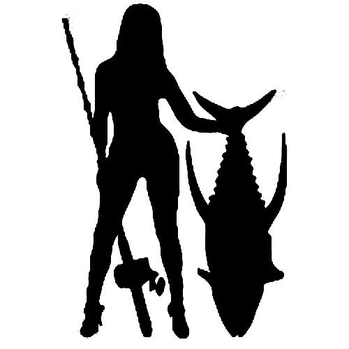 500x500 Girls Fish Too! Vinyl Art Decal Removeable Different Styles
