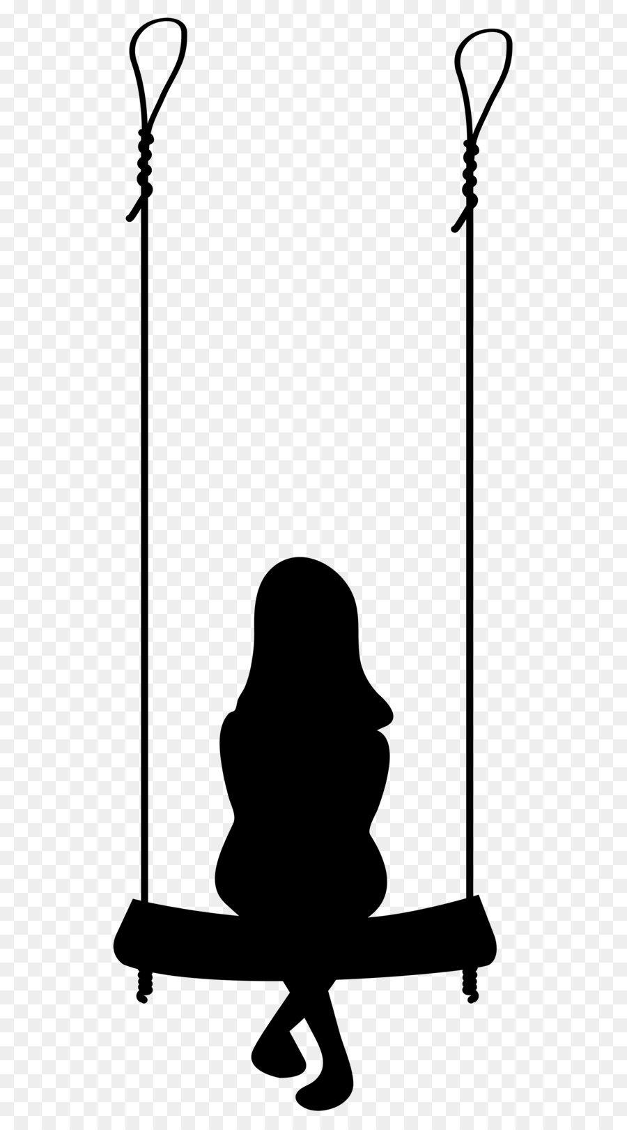 900x1620 Silhouette Swing Clip Art