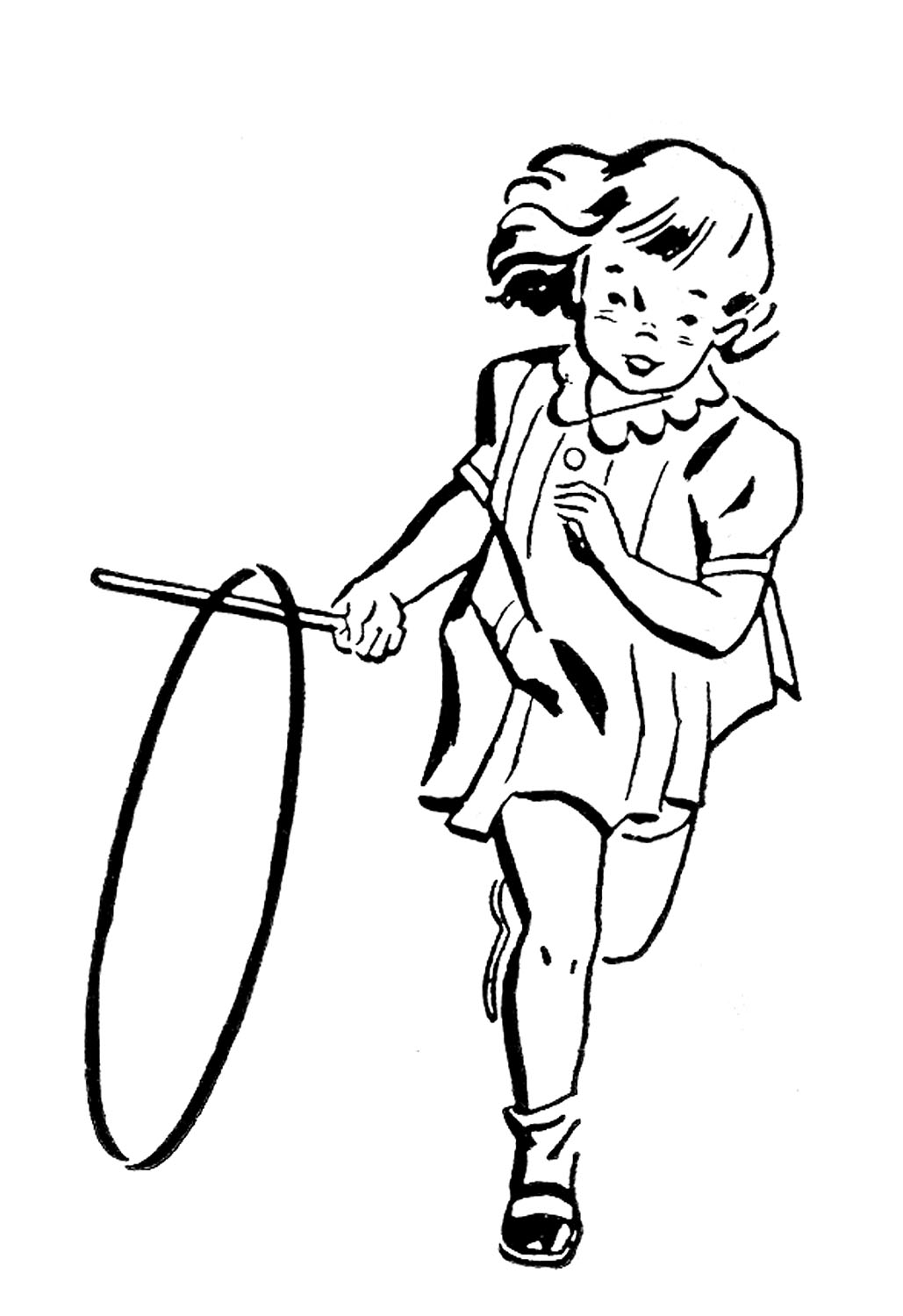 1029x1500 Little Girl Fishing Clipart Black And White