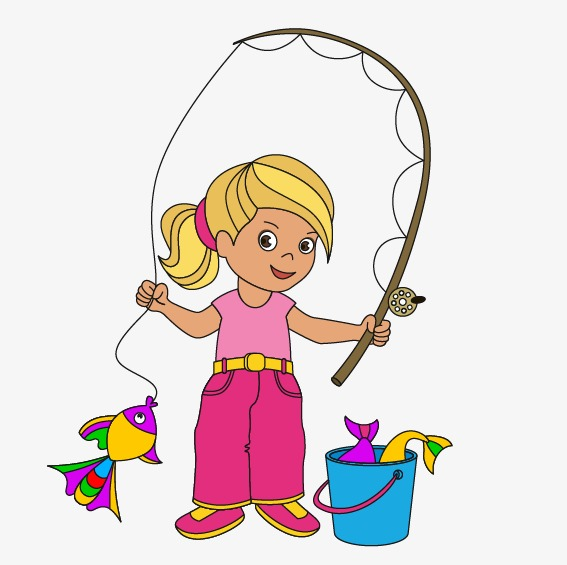 567x565 Fishing Girl, Fishing, Vector Girl Png And Vector For Free Download