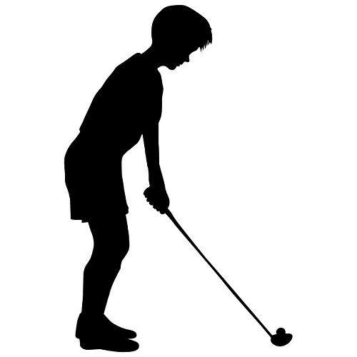 Girl Golfer Silhouette